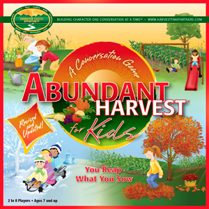 Abundant Harvest for Kids Board Game Box Top