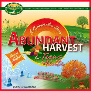 Abundant Harvest for Teens & Adults Conversation Game Box Top