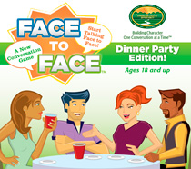 Dinner Party Conversation Starters Face to Face Box Top