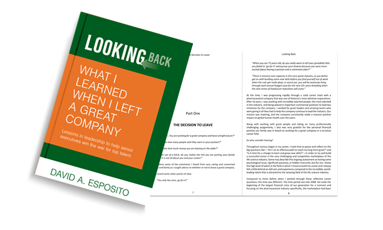 Looking Back Book for Senior Executive Leaders by David Esposito
